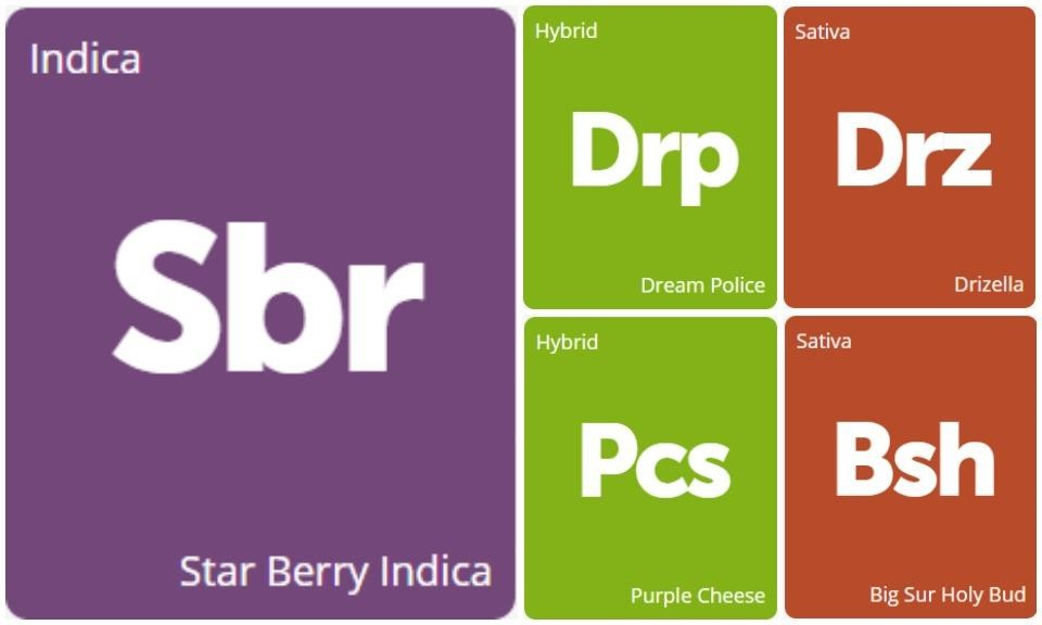 New Strains Alert: Drizella, Star Berry Indica, Big Sur Holy Bud, Dream Police, and Purple Cheese
