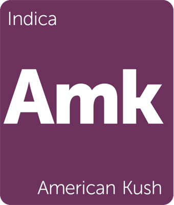 American Kush Leafly Strain Tile
