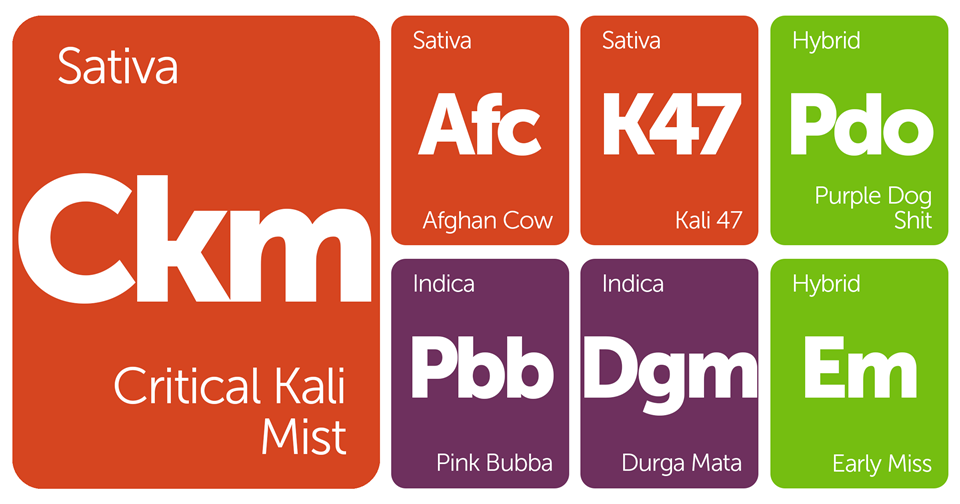 New Strains Alert: Purple Dog Shit, Critical Kali Mist, Pink Bubba, Afghan Cow, and More