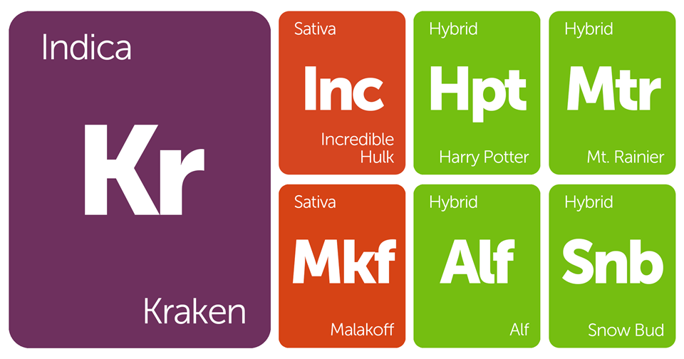 New Strains Alert: Kraken, Harry Potter, Incredible Hulk, Mt. Rainier, and More