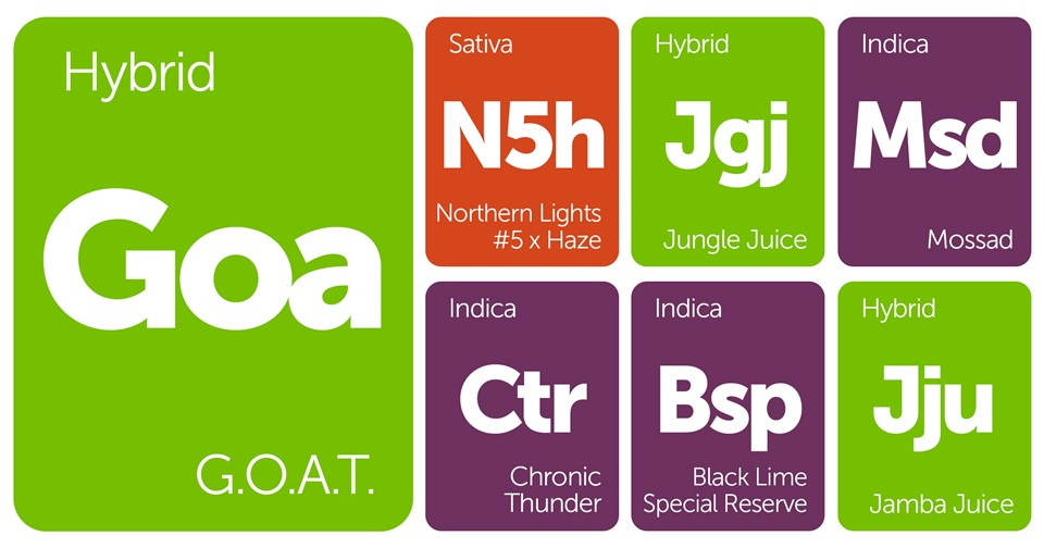 New Strains Alert: G.O.A.T., Chronic Thunder, Jamba Juice, and More