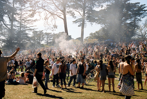 Gathering at Hippie Hill