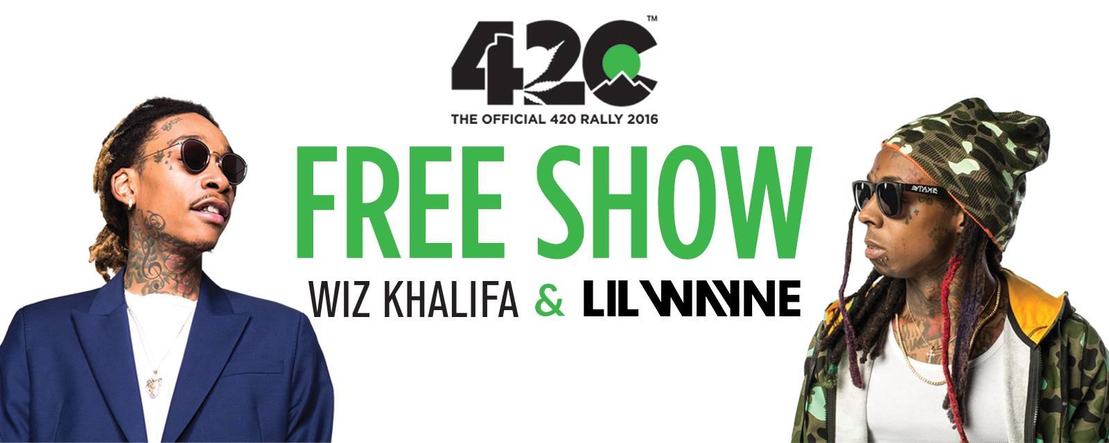 Free Wiz Khalifa & Lil Wayne 420 Rally