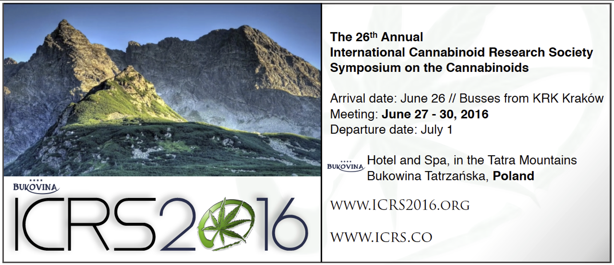 International Cannabinoid Research Society Conference