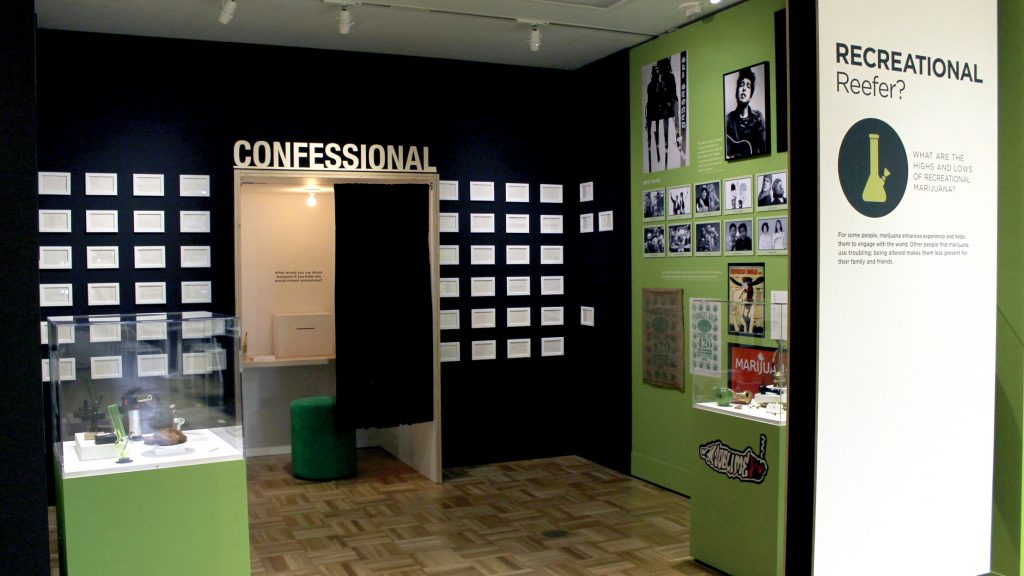 California Altered State exhibit Cannabis Confessional