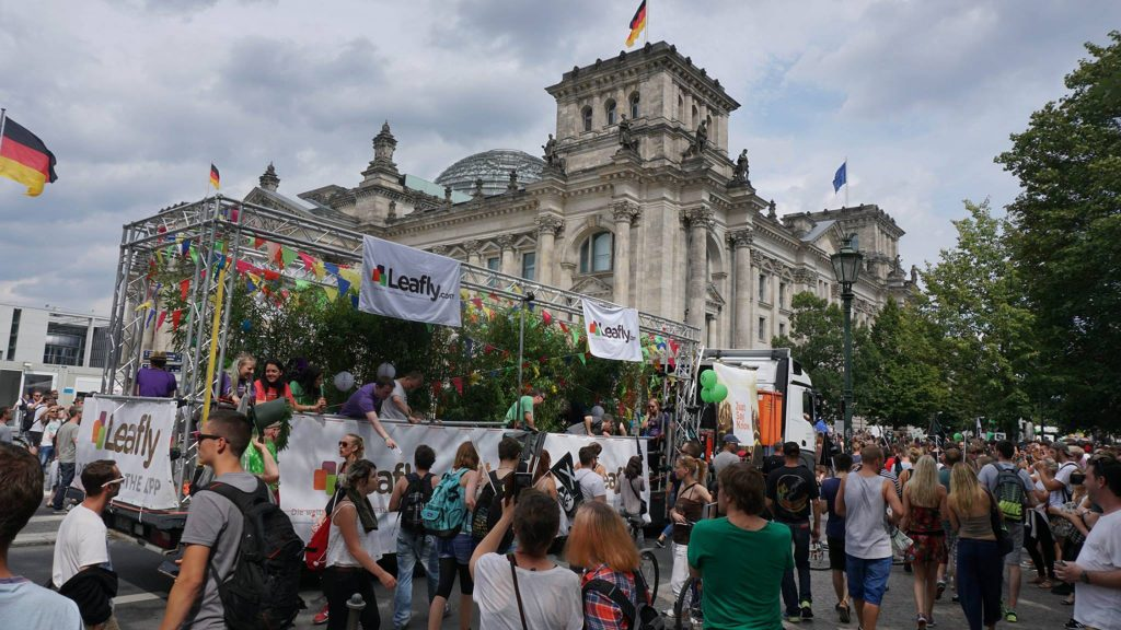 Leafly float at Berlin