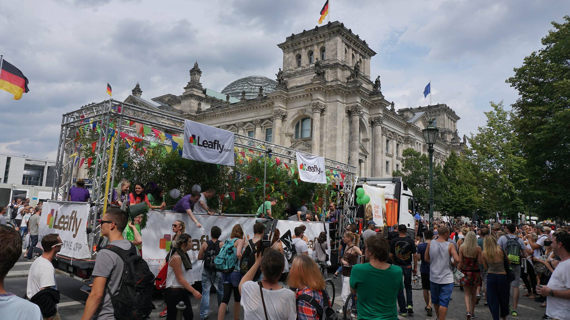 Leafly float at Berlin's 20th annual Hanfparade
