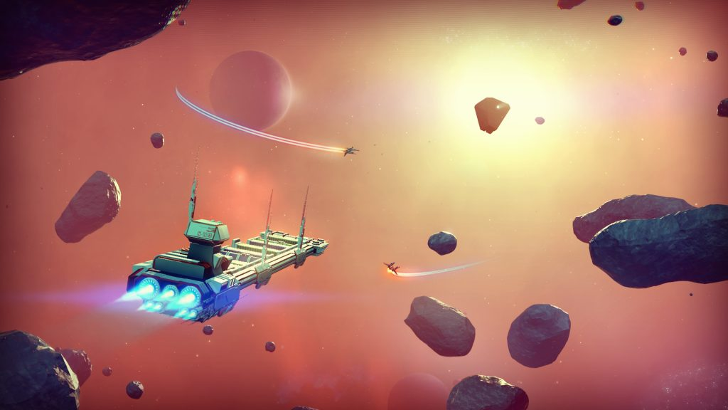 Exploring star systems in No Man's Sky