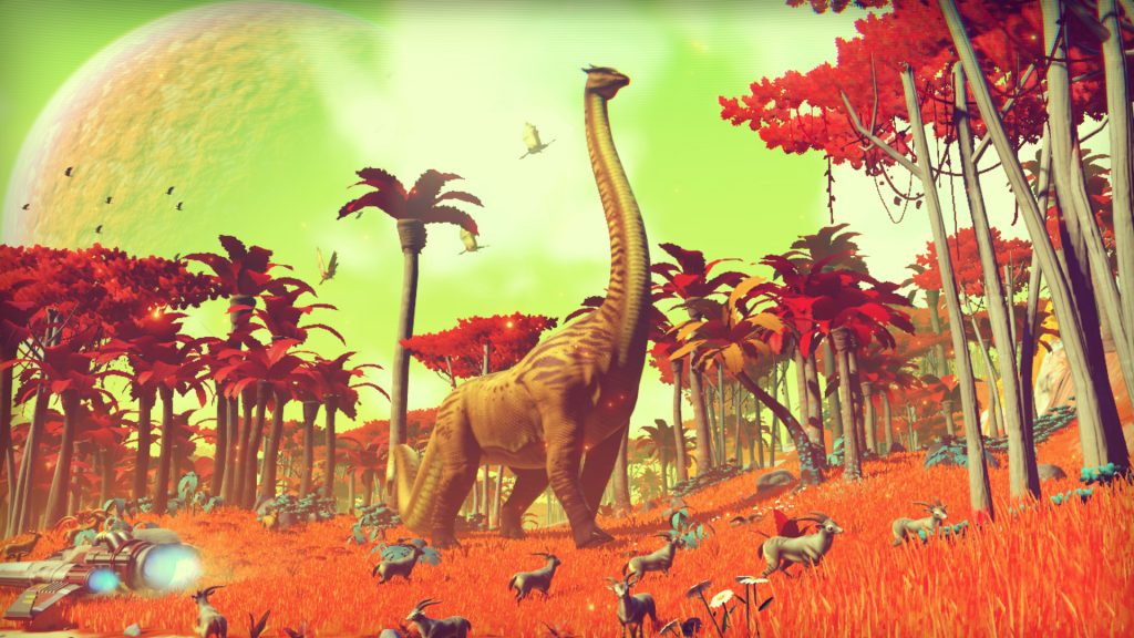 Dinosaurs and wildlife in No Man's Sky