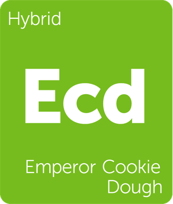 Leafly Emperor Cookie Dough hybrid cannabis strain tile