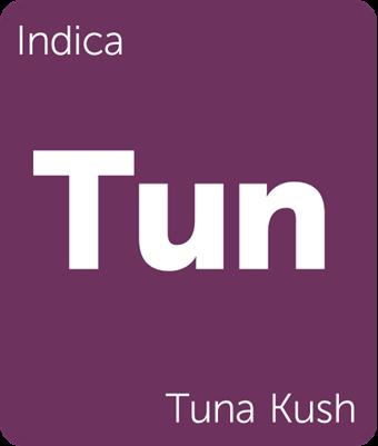 Leafly Tuna Kush indica cannabis strain tile