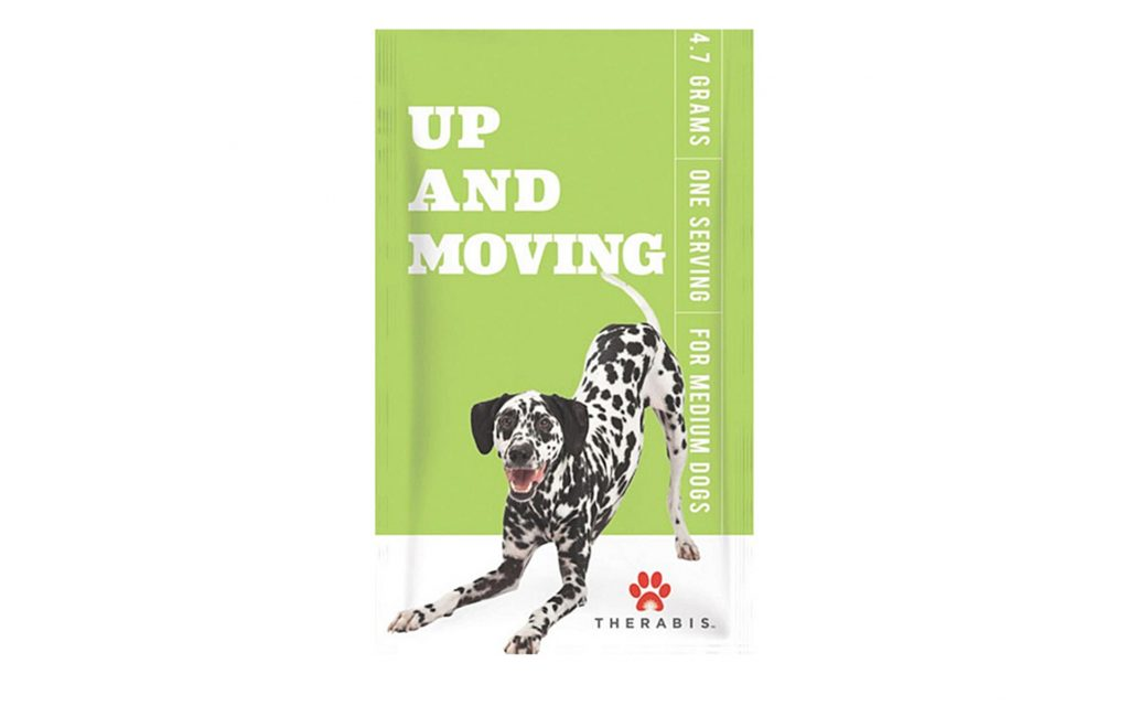 Up and Moving CBD-infused pet supplement from Therabis