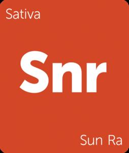 Leafly Sun Ra sativa cannabis strain tile