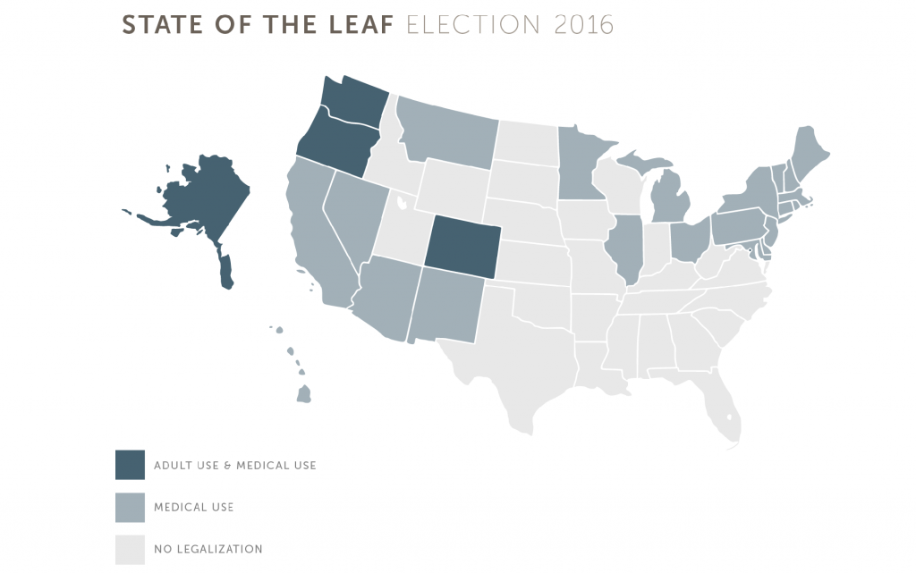Cannabis Legalization 2016: Map of Legal States in the USA