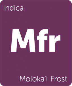 Leafly Moloka'i Frost indica cannabis strain tile