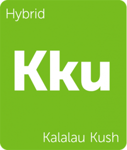 Leafly Kalalau Kush hybrid cannabis strain tile