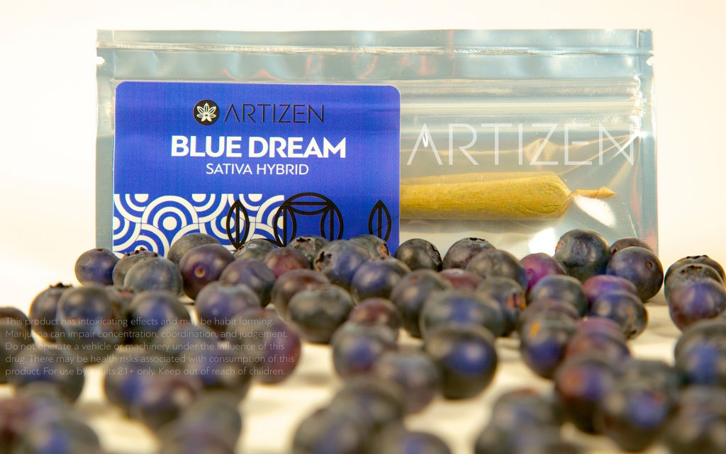 Blue Dream cannabis pre rolls from Artizen