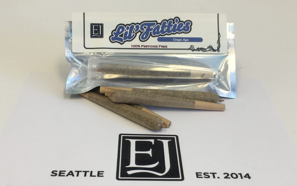 Grape Ape cannabis pre rolls from Emeral Janes