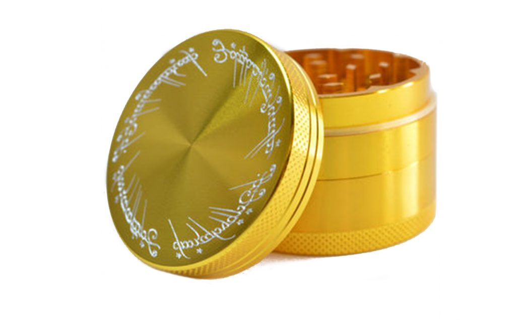 Lord of the Rings engraved metal herb grinder from GrindTex