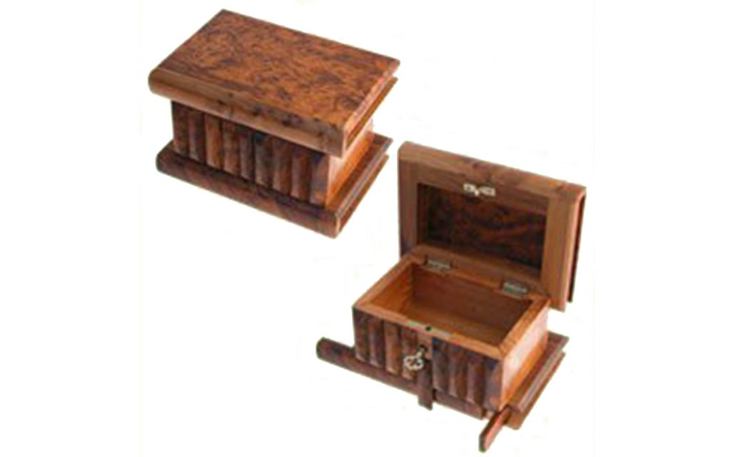 Moroccan Thuya Wood Secret Key Stash Box from EveryoneDoesIt.com