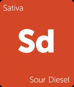 Leafly Sour Diesel sativa cannabis strain