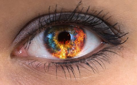 red fire eyes from smoking weeed
