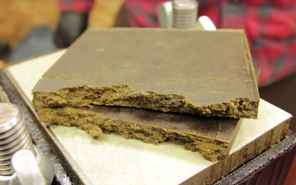 Brick of weed hash (or hashish)