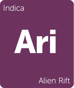 Leafly Alien Rift indica cannabis strain