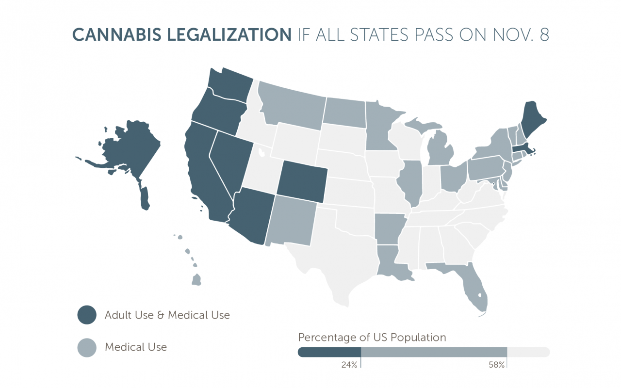 Heres What Americas Legalization Map Could Look Like Tomorrow Leafly