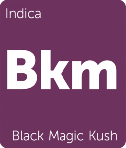 Leafly Black Magic Kush indica cannabis strain