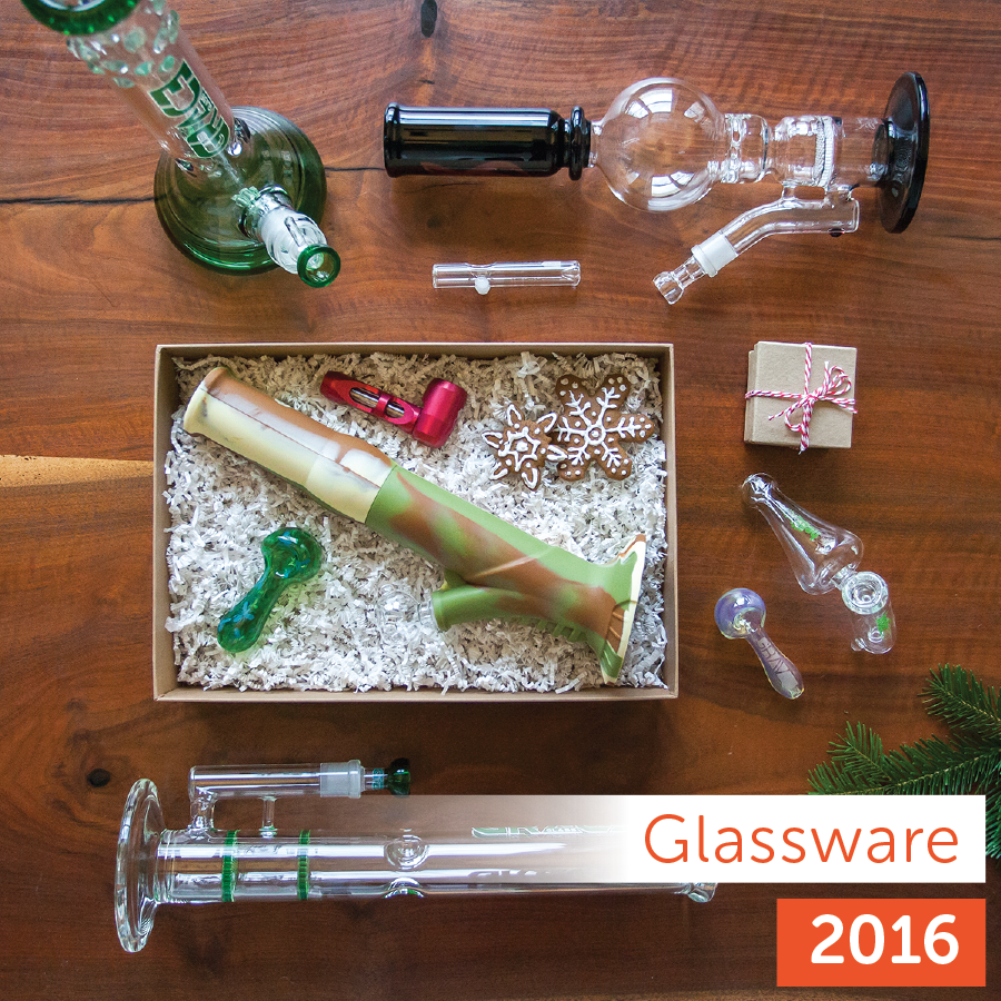 Leafly <strong>2016</strong> Holiday Gift Guide: glass product collection