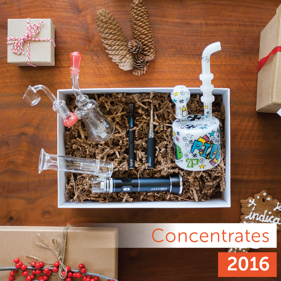 Leafly 2016 Holiday Gift Guide: concentrate product collection
