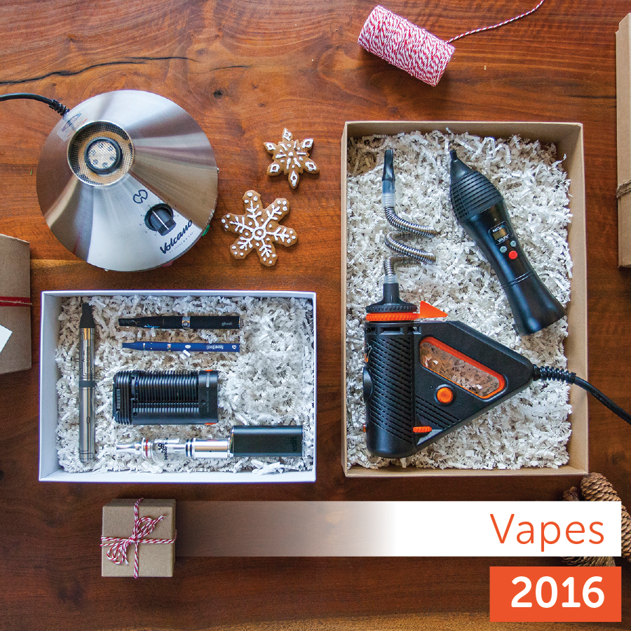 Leafly <strong>2016</strong> Holiday Gift Guide: vaporizer product collection