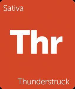 Leafly Thunderstruck sativa cannabis strain tile