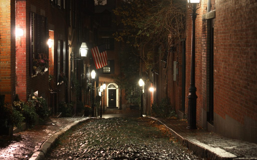 Alleyway in the Beacon Hill neighborhood of Boston.