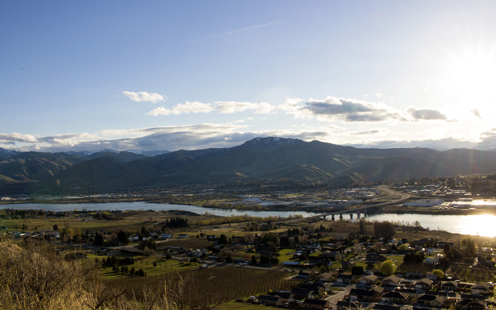 Wenatchee Valley in Chelan County, Washington.