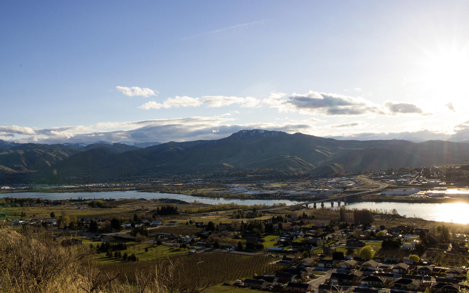 Wenatchee Valley in Chelan County, Washington.
