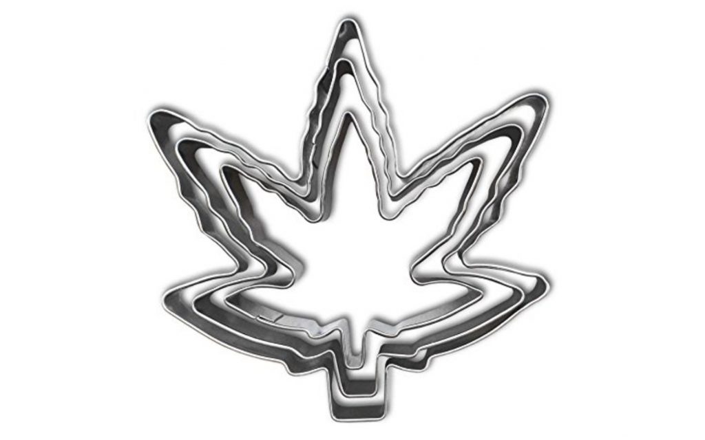 Cannabis Leaf Cookie Cutter Set