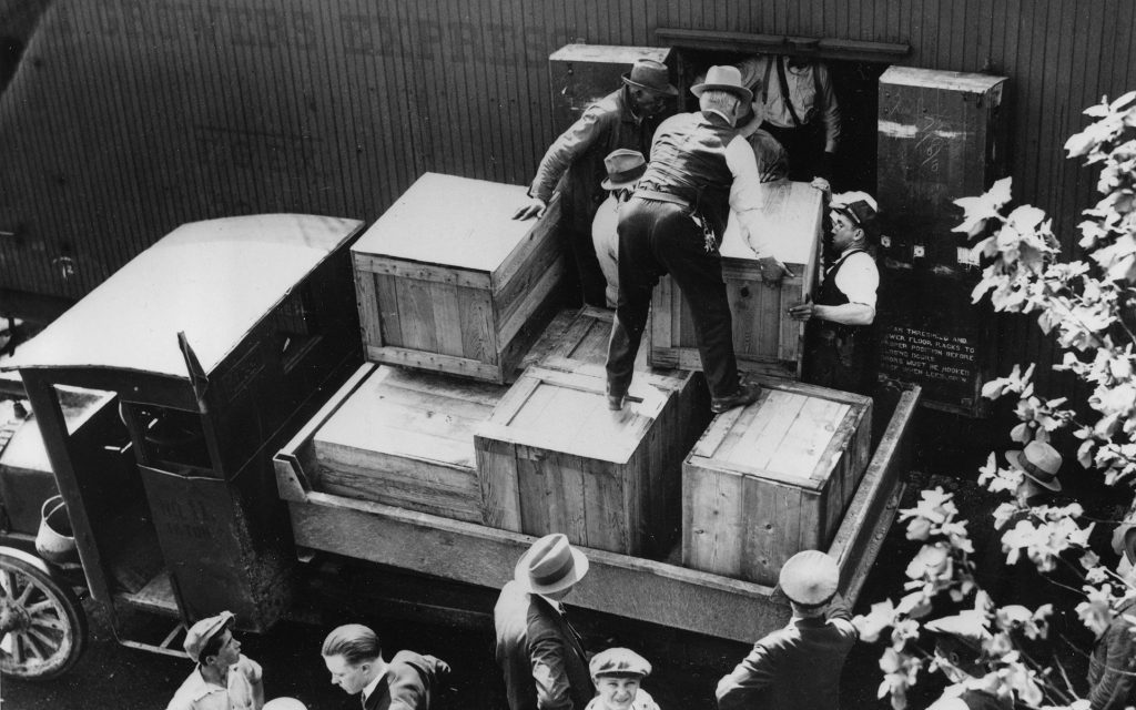 Whiskey crates during the alcohol prohibition
