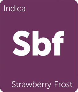 Leafly Strawberry Frost indica cannabis strain