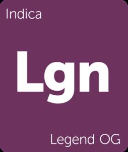 Leafly Legend OG indica cannabis strain tile