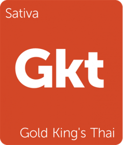 Leafly Gold King's Thai sativa cannabis strain tile