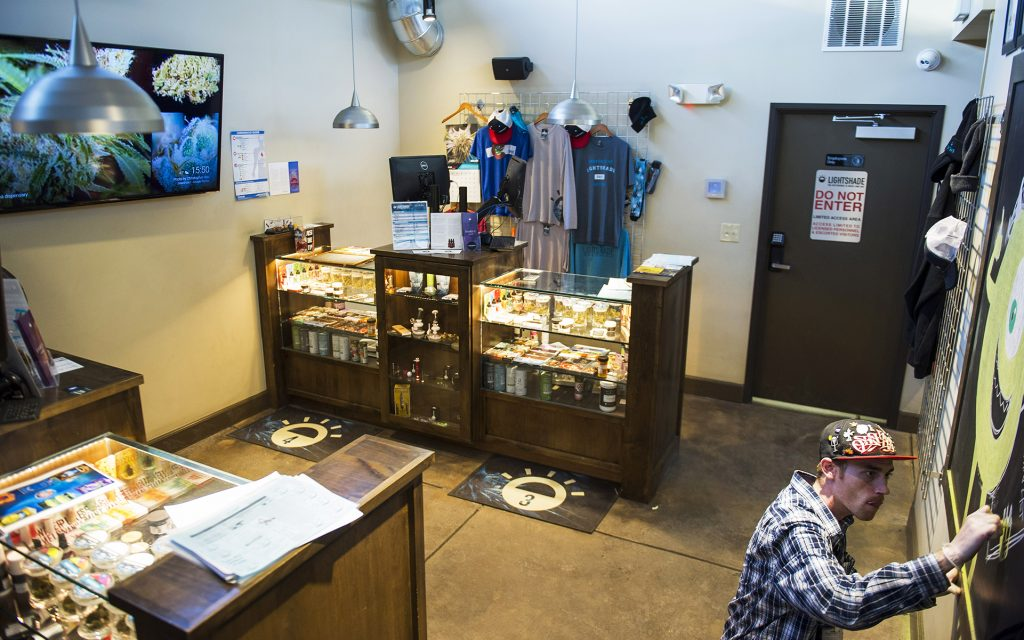 Cannabis products at Lightshade dispensary in Denver, CO