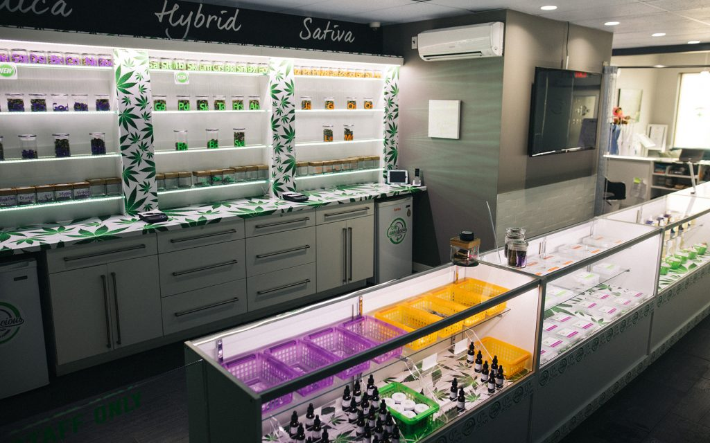 Cannabis products at MMJ Total Health Care in British Columbia