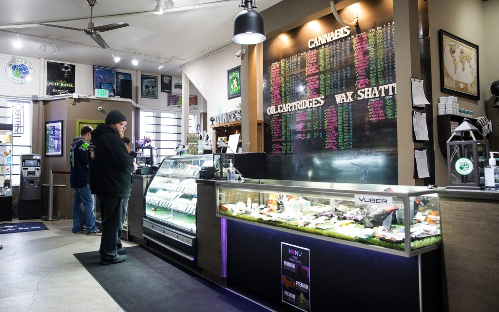 World of Weed in Tacoma, WA - Cannabis product menu