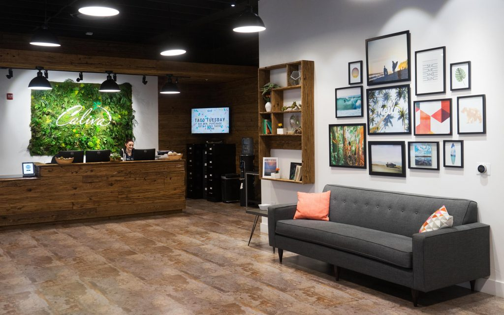 Lobby at Caliva dispensary in San Jose, California