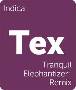 Leafly Tranquil Elephantizers_Remix indica cannabis strain tile