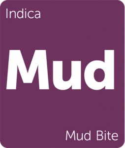 Leafly Mud Bite indica cannabis strain tile