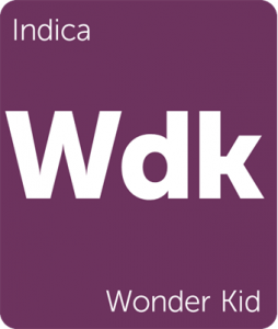 Leafly Wonder Kid indica cannabis strain tile