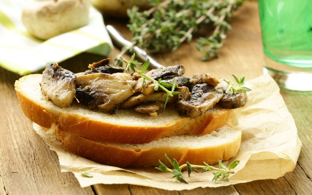 Marijuana-Infused Balsamic-Mushroom Bruschetta Appetizer Recipe